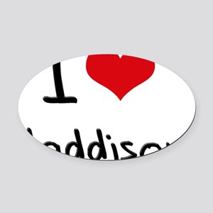 I Love Maddison Oval Car Magnet