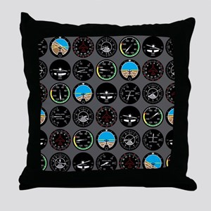 Flight Instruments Throw Pillow