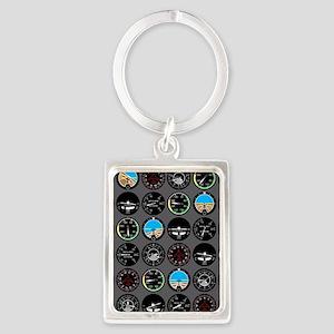 Flight Instruments Portrait Keychain