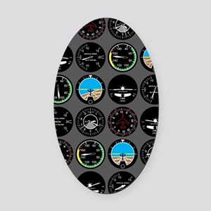 Flight Instruments Oval Car Magnet