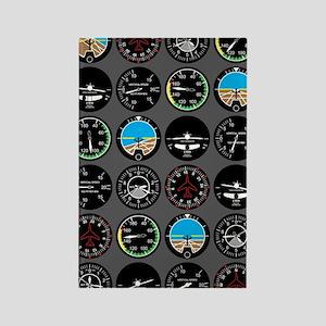 Flight Instruments Rectangle Magnet
