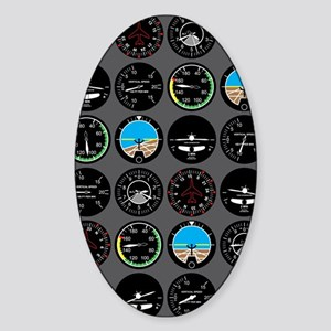 Flight Instruments Sticker (Oval)