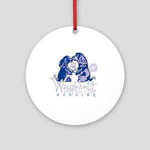 Wigglebutt Wedding Round Ornament