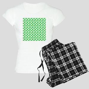 Dog Paws Green-Small Women's Light Pajamas