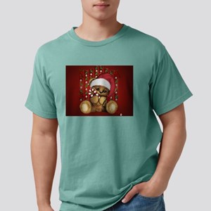 Santa Teddy Bear with Candy Cane T-Shirt