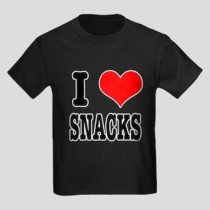 I Heart (Love) Snacks Kids Dark T-Shirt
