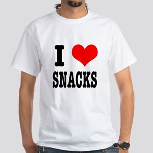 I Heart (Love) Snacks White T-Shirt