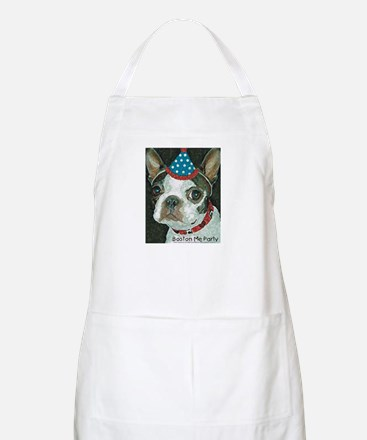 Boston Terrier Me Party BBQ Apron
