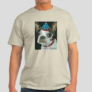 Boston Terrier Me Party Light T-Shirt