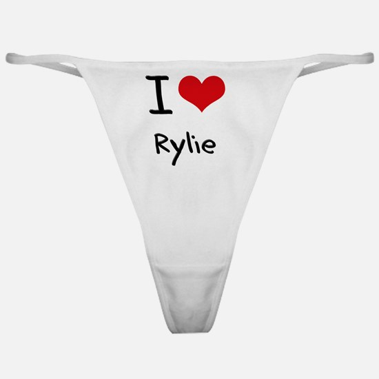 I Love Rylie Classic Thong