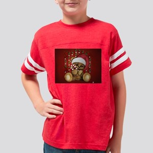 Santa Teddy Bear with Candy Cane T-Shirt