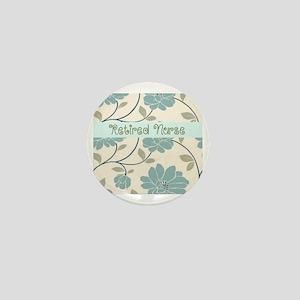 retired nurse blue flower pillow Mini Button