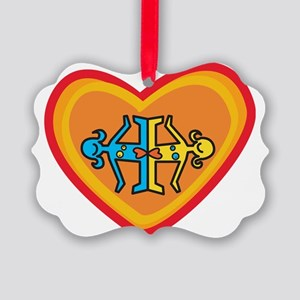 Girls heart Picture Ornament
