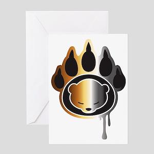 Bear footprint Greeting Card