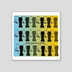 """Retired Respiratory Therapi Square Sticker 3"""" x 3"""""""
