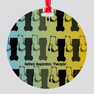 Retired Respiratory Therapist Round Ornament
