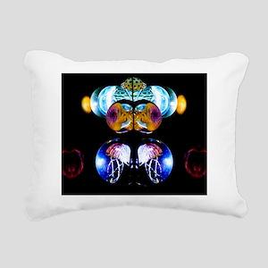 Electric Jellyfish Rectangular Canvas Pillow