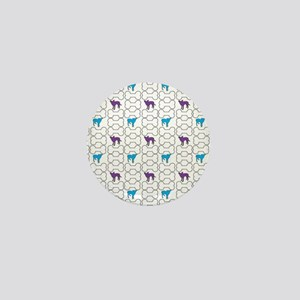 Violet + Blue background (featuring Zu Mini Button