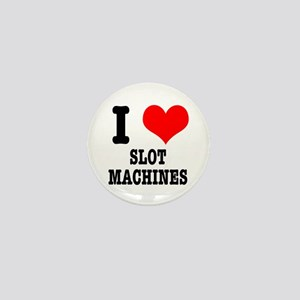 I Heart (Love) Slot Machines Mini Button