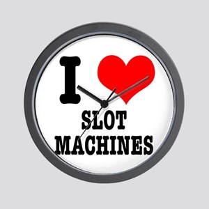 I Heart (Love) Slot Machines Wall Clock