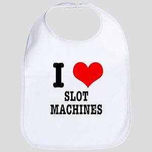 I Heart (Love) Slot Machines Bib