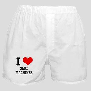 I Heart (Love) Slot Machines Boxer Shorts