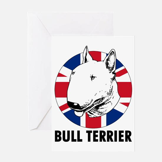 Bull Terrier English flag Greeting Card