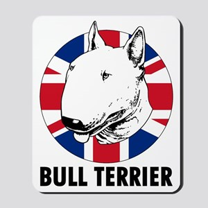 Bull Terrier English flag Mousepad