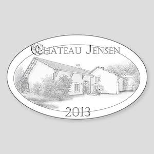 Château Jensen Sticker (Oval)