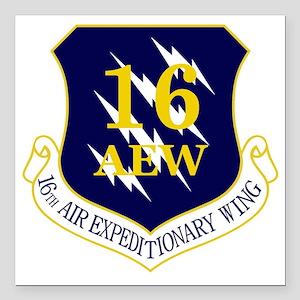 "16th AEW Square Car Magnet 3"" x 3"""