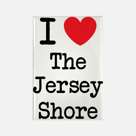 I love the jersey shore Rectangle Magnet