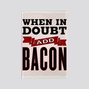 Add Bacon Rectangle Magnet