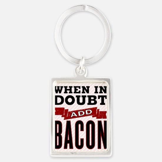 Add Bacon Portrait Keychain
