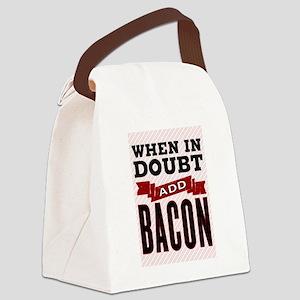Add Bacon Canvas Lunch Bag