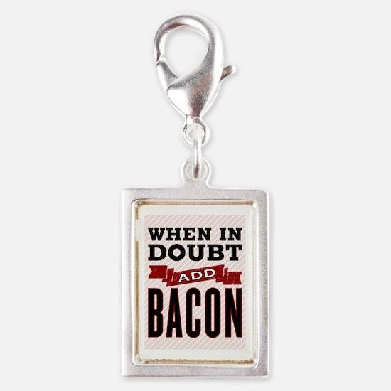 Add Bacon Silver Portrait Charm
