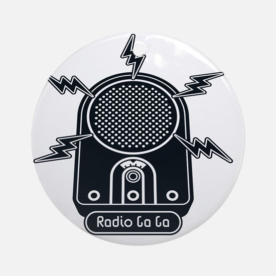 Radio Ga Ga Round Ornament