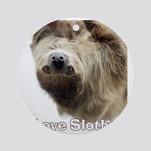 Love Sloths T-shirt Round Ornament