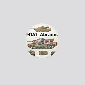 M1A1 Abrams MBT Cutaway Mini Button
