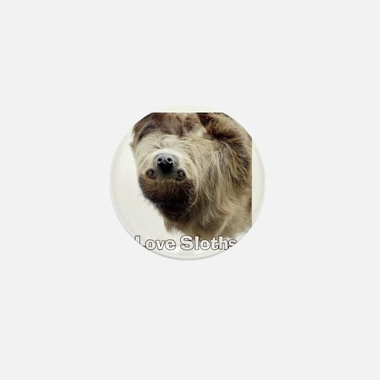 Love Sloths T-shirt Mini Button