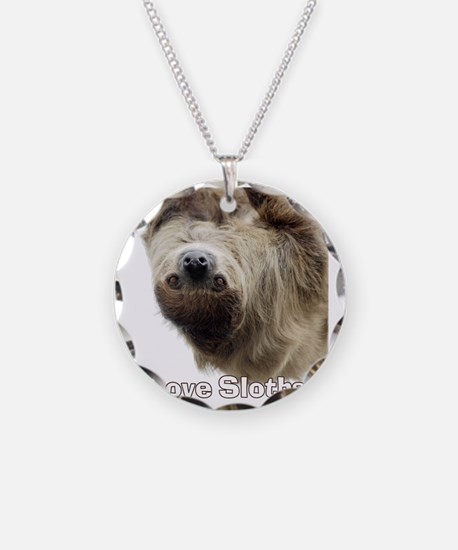 Love Sloths T-shirt Necklace