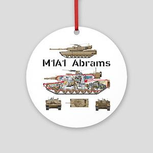 M1A1 Abrams MBT Cutaway Round Ornament