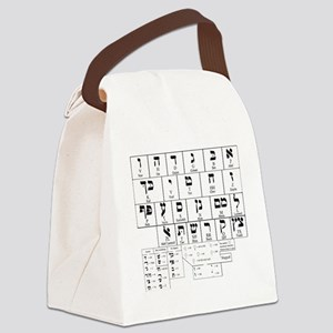 Hebrew Alphabet Canvas Lunch Bag