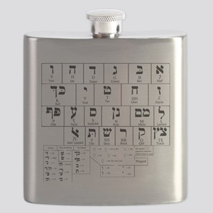 Hebrew Alphabet Flask