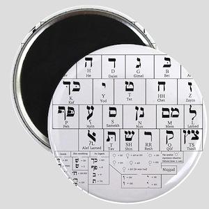 Hebrew Alphabet Magnet