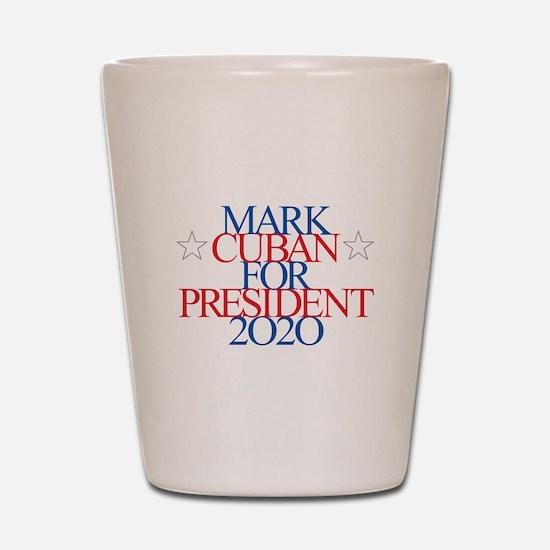 Mark Cuban for President 2020 Shot Glass