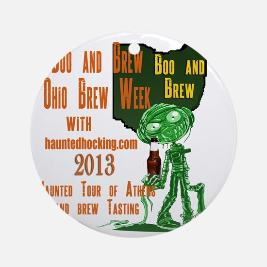 Ohio Brew Week Round Ornament
