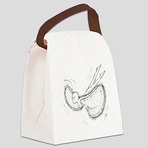Flying vagina Canvas Lunch Bag