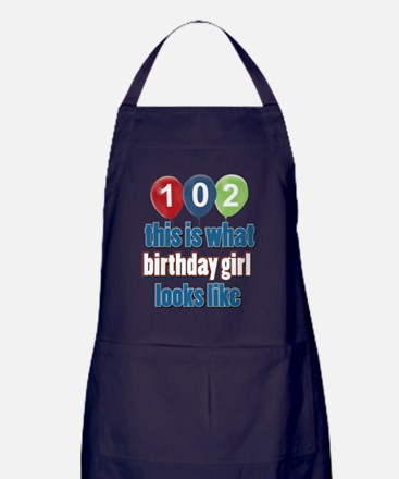 102 this is what birthday girl looks  Apron (dark)
