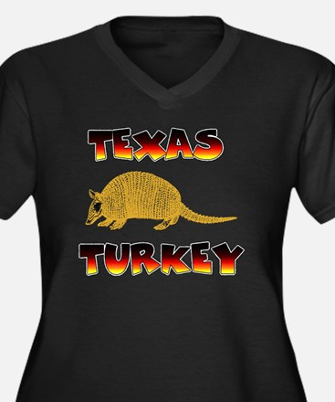 Texas Turkey Women's Plus Size Dark V-Neck T-Shirt