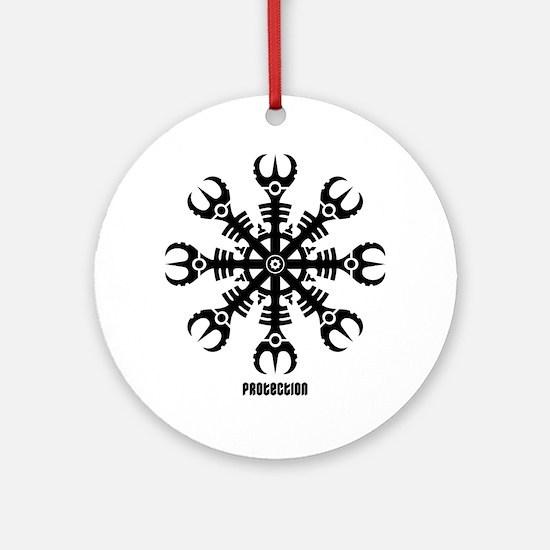 Helm of awe - Aegishjalmur No.2  Round Ornament
